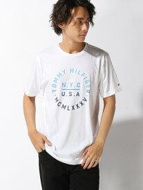 【SALE/30%OFF】TOMMY HILFIGER (M)テキストロゴレギュラーフィットTシャツ トミーヒルフィガー カットソー【RBA_S】【RBA_E】【送料無料】
