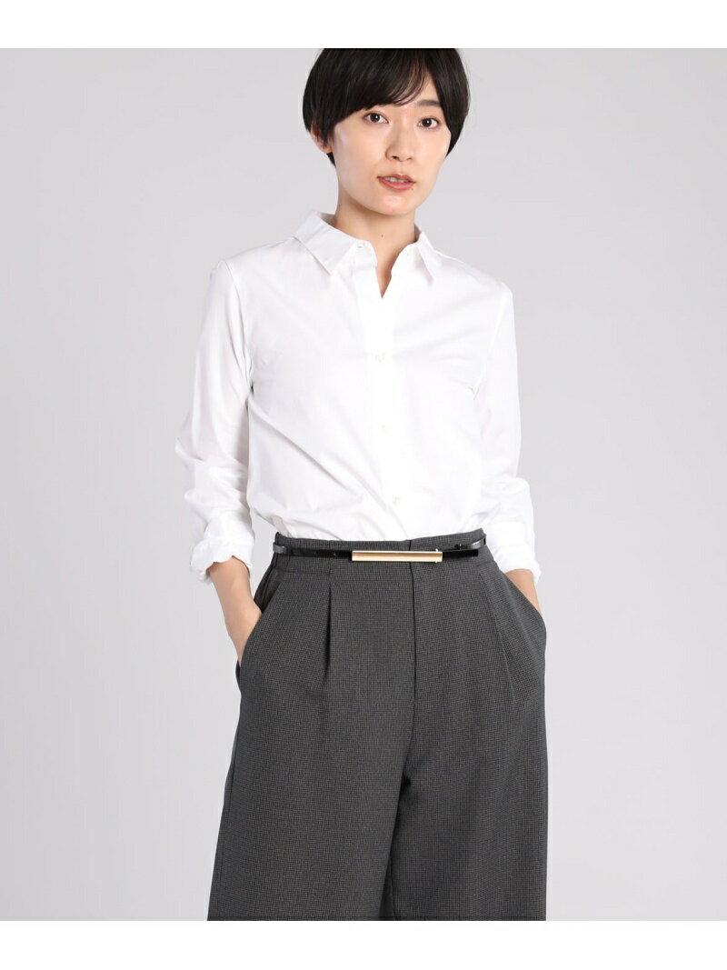 INED L size 《大きいサイズ》ベーシックコットンシャツ【INED】 イネド エルサイズ シャツ/ブラウス【送料無料】