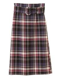 31 Sons de mode Bigバックルチェックタイトスカート トランテアン ソン ドゥ モード スカート【送料無料】