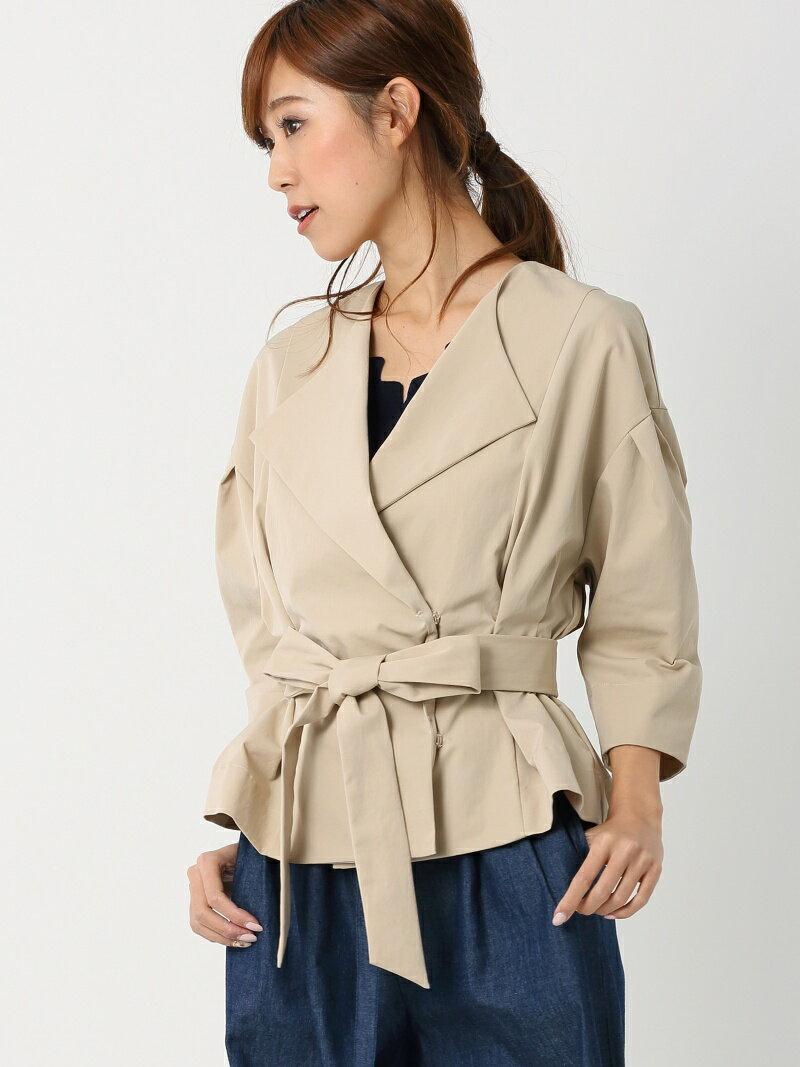 【SALE/77%OFF】MEW'S REFINED CLOTHES ウエストベルト付ジャケット ミューズ リファインド クローズ コート/ジャケット【RBA_S】【RBA_E】