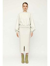 SLY FRONT SLIT RIB ミディアムスカート スライ スカート ミニスカート ホワイト ブラック ブラウン【送料無料】