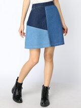 切替デザインスカート