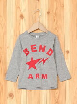 BEND ARMプリント長袖Tシャツ カットソー