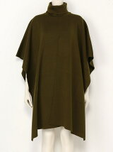 CENTER SLIT KNIT PONCHO