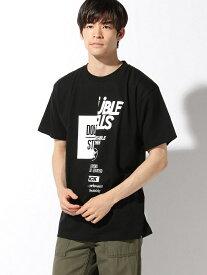 【SALE/30%OFF】DOUBLE STEAL HALF&HALF Tシャツ ダブルスティール カットソー Tシャツ ブラック ホワイト