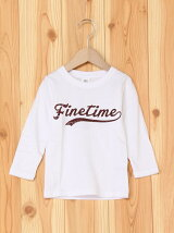 FINE TINEプリント長袖Tシャツ カットソー