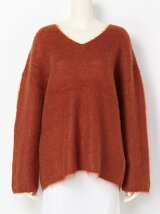 MOHAIR V/N KNIT TOPS