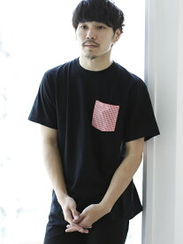 BEAMS T 【SPECIAL PRICE】BEAMS T / Check Pocket Tee ビームスT カットソー Tシャツ ブラック ネイビー ホワイト