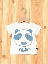 パンダ柄デニムモチーフ半袖Tシャツ