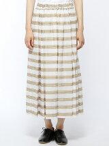 ドビーボーダーローンギャザースカート