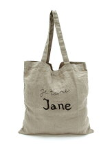 Linen Shopper Bag Large Jetaime Jane