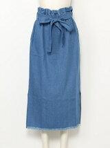 裾フリンジスカート