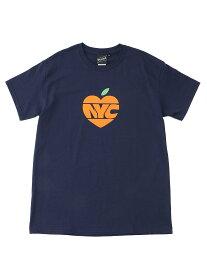 BEAMS T 【SPECIAL PRICE】BEAMS T / NYC APPLE Tee ビームスT カットソー Tシャツ ネイビー ホワイト