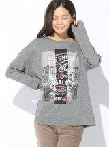 (W)カフェプリントロングTシャツ・カットソーDMW2
