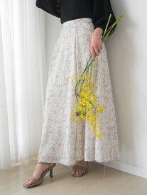【SALE/40%OFF】LADYMADE Marble Art フレアSK レディメイド スカート フレアスカート ベージュ グレー【送料無料】