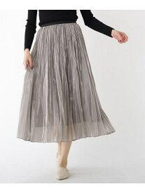 【SALE/30%OFF】分繊サテンワッシャープリーツスカート ドレステリア スカート【RBA_S】【RBA_E】【送料無料】