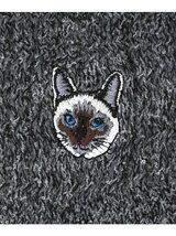 靴下屋/(W)アメリブねこ刺繍ショートソックス