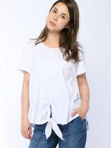 (W)袖切り替え裾結びTシャツ・カットソーPJ