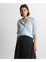 MADISONBLUE ボイル風コットンシャツ