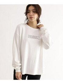OZOC [洗える]転写ロングスリーブプルオーバー オゾック カットソー Tシャツ ホワイト ブラウン【送料無料】