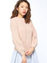 【RETRO GIRL】袖ボリュームケーブルNT