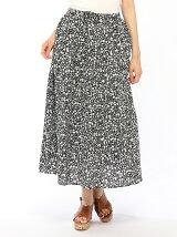 Lugnoncure/ボイル花柄プリントスカート