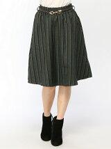 ベルト付リバーシブルスカート