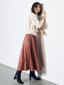 SNIDEL レザープリーツSK スナイデル スカート プリーツスカート/ギャザースカート ピンク ブラウン【送料無料】