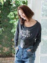 C/R GYPSY&the WAYプリントロングスリーブTシャツ