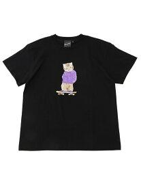 BEAMS T 【SPECIAL PRICE】BEAMS T / NEKO PRINT Tee ビームスT カットソー Tシャツ ブラック ホワイト