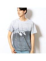 前面フォトプリント半袖Tシャツ