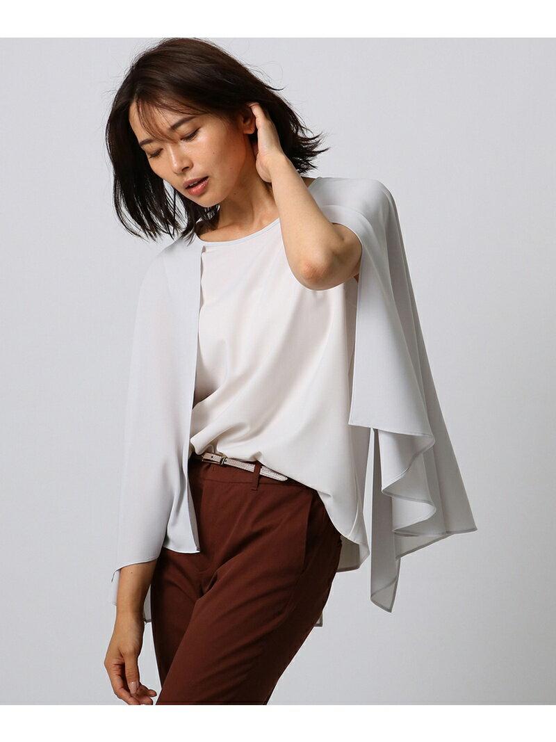 【SALE/50%OFF】UNTITLED 【洗える】マントデザインシャツ アンタイトル シャツ/ブラウス【RBA_S】【RBA_E】【送料無料】