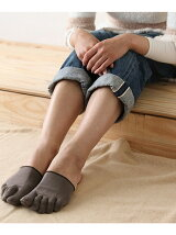 TABIO LEG LABO/(W)しっとり絹のつま先5本