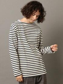 SHIPS JET BLUE ORCIVAL:コットンLOURDボーダー長袖Tシャツ シップス カットソー Tシャツ ブラウン ブラック ネイビー【送料無料】