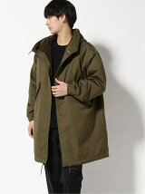GOLD/(M)SNOW PARKA W/BOUCLE WOOL KNIT