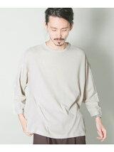 スーピマワッフル7分袖ルーズTシャツ