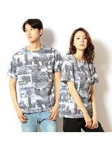 前面コラージュフォトプリント半袖Tシャツ
