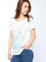 (W)フォトプリントTシャツ・カットソー5U