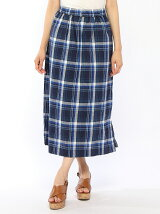 Lugnoncure/C/Lチェックギャザーマキシスカート