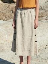 Julian skirt リネンサイドスリットスカート