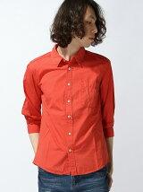 ブロード製品染め7分袖シャツ