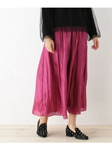 グロッシーサテンギャザースカート