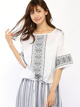 Lugnoncure/クロスステッチ刺繍裾絞りBL