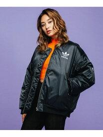 【SALE/70%OFF】adidas Originals LONG BOMBER JACKET アディダス コート/ジャケット コート/ジャケットその他 ブラック【送料無料】