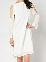 Slit sleeve dress