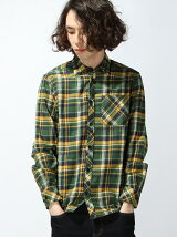 ネルチェックシャツ
