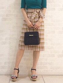 【SALE/60%OFF】麻調合繊チェックタイトスカート トランテアン ソン ドゥ モード スカート【RBA_S】【RBA_E】