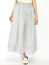 Lugnoncure/綿ローンアソートストライプマキシスカート