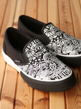 (M)【VISION STREET WEAR】CANVAS SLIP-ON