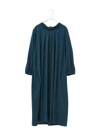 HIROKO BIS GRANDE 【洗濯機で洗える】ブレーディング天竺ドレス ヒロコ ビス グランデ ワンピース ワンピースその他 グリーン イエロー ネイビー【送料無料】